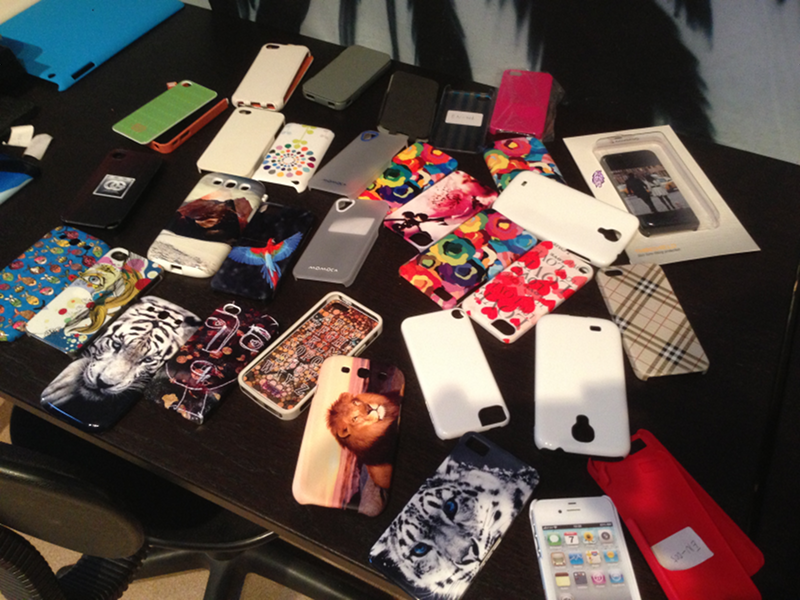 A Sample of the Case Monkey Phone Case Testing Collection!