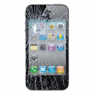 broken iphone screen - should have used protection